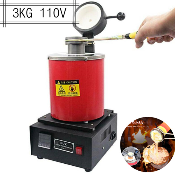 Pro 3KG Electric Melting Furnace Forge Gold Silver Metal Smelter Jewelry Tool US $216.00