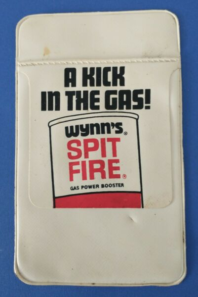 Vintage Wynn#x27;s Spit Fire Gas Treatment Pocket Protector ***FREE SHIPPING***