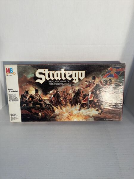 Stratego Board Game 1986 Milton Bradley No Instruction Booklet Nice Condition