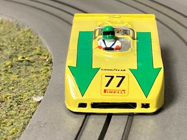Aurora AFX custom painted Scuderia Montjuich Porsche 908 3 HO Slot Car Body