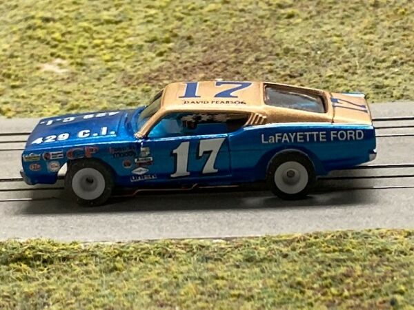 Aurora AFX Lowered David Pearson Torini Resin tjet HO Slot Car Body