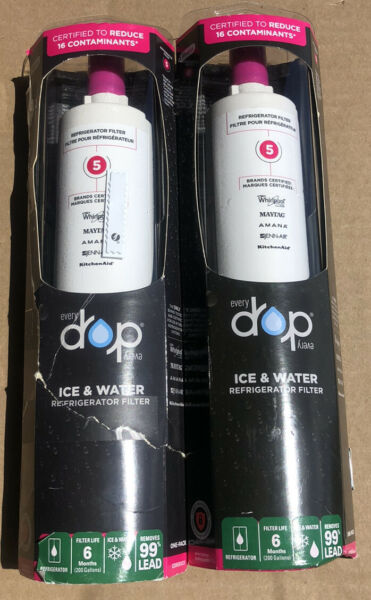 Lot Of 2 NEW Whirlpool Every Drop Ice amp; Water Refrigerator Filter 5 EDR5RXD1 $49.95