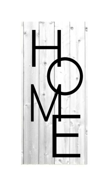 16 Inch Vertical Home Wood Print Sign $30.00