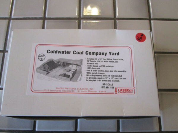 american models COLDWATER COAL CO. YARD wood kit HO scale $72.90