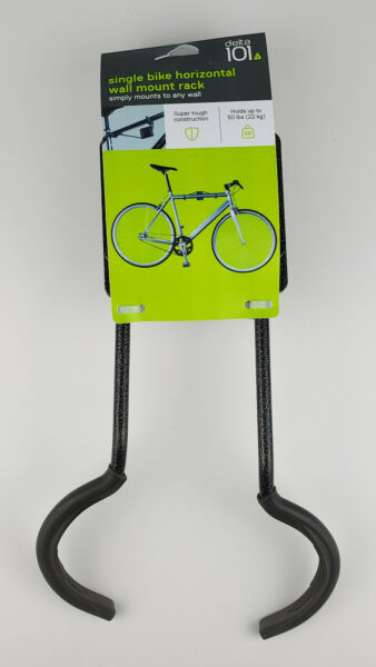 Delta 101 Single Bike Horizontal Wall Mount Rack Holds Up To 50lbs $5.99