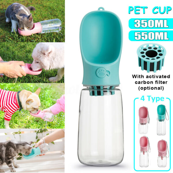 Portable Mini 550ml Pet Care Cup Water Drinker Dispenser Activated Carbon C $21.61