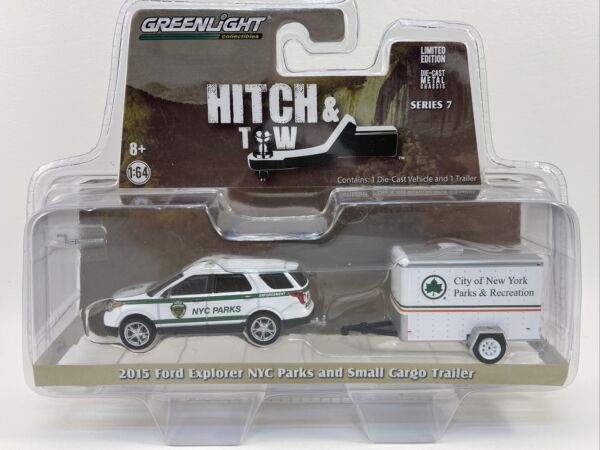 2015 FORD EXPLORER NYC DPR amp; SMALL TRAILER 1 64 GREENLIGHT HITCH amp; TOW Series 7 $8.99