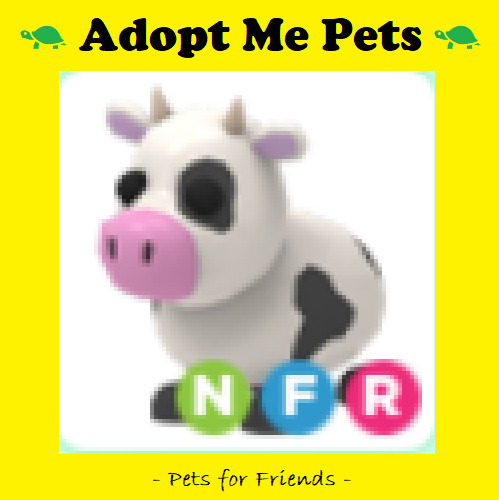 ADOPT ME NEON COW FLY RIDE NFR w Purchase of Digital Art $14.25