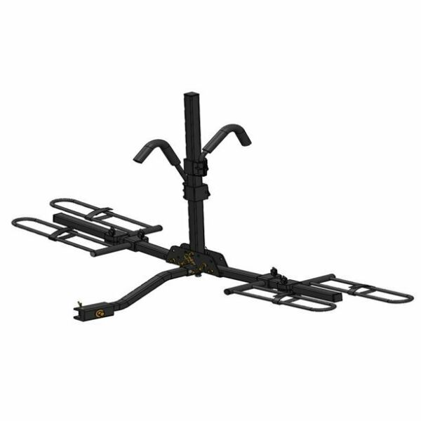 Hyper Tough Hitch Mounted Platform 2 Bike Rack Fits Cars and Trucks with 1.25 $67.00