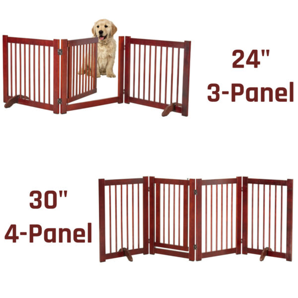 24#x27;#x27; 30#x27;#x27; Dog Gate Openable Indoor Solid Pet Dog Fence Child Safety Gate Folding $77.99