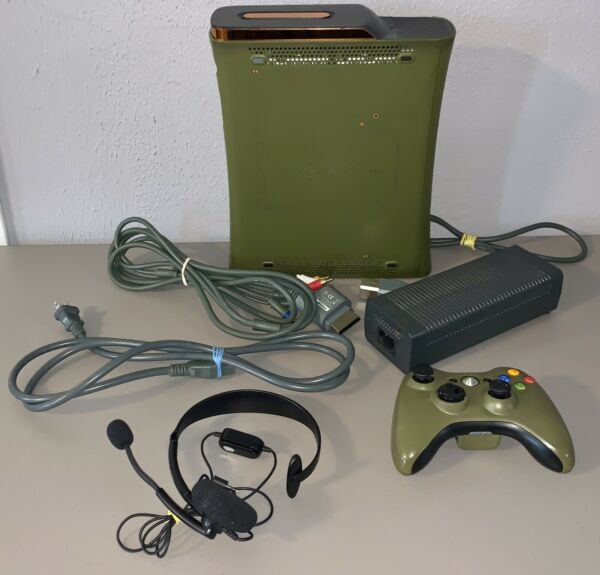 Microsoft XBOX 360 Special Edition Halo 3 System *TESTED* Headset Controller $149.95