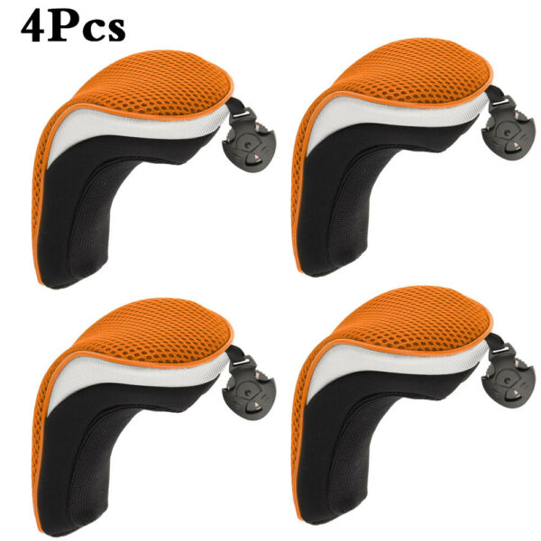 4Pcs Set Wood Hybrid Golf Club Head Covers with Interchangeable No.Tag UT Cover $16.99