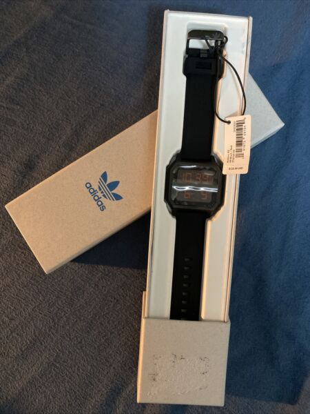 Adidas Archive R2 Quartz Watch Brand New In Box with Tags Black with Red LED
