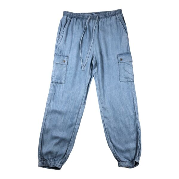 Love Tree Women#x27;s Drawstring Cargo Pants Large With Pockets Made With Tencel.