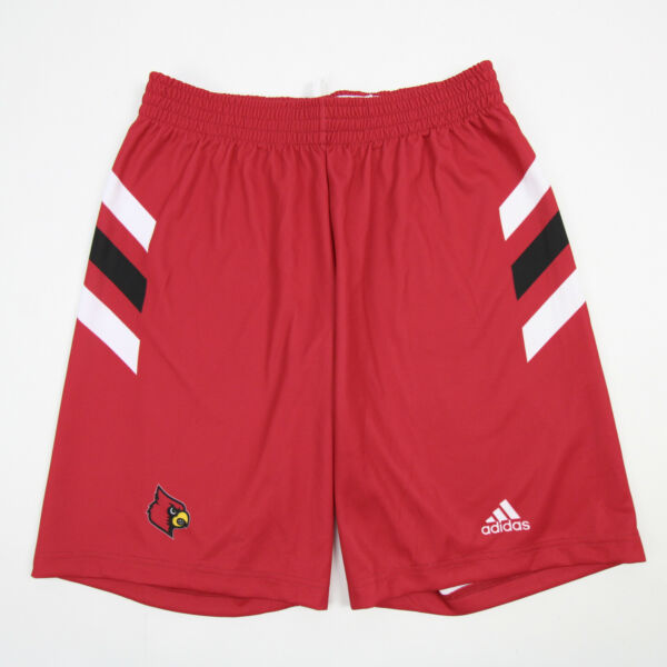 Louisville Cardinals adidas Athletic Shorts Men#x27;s Red White