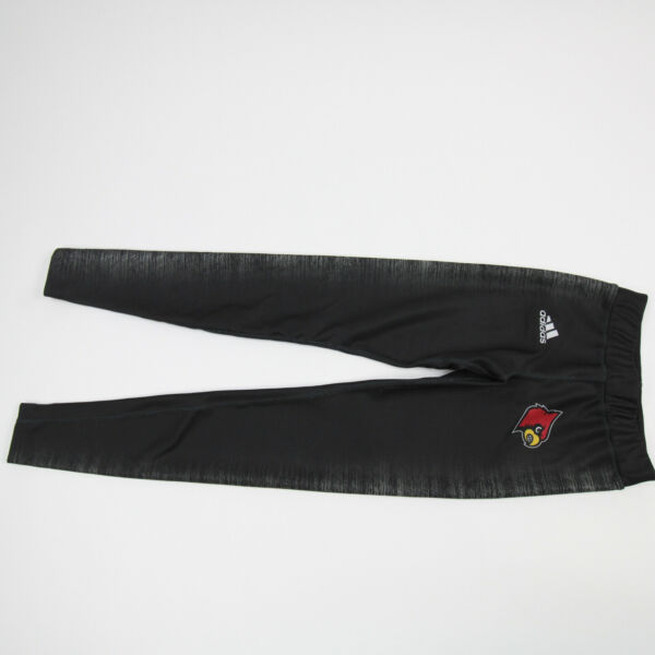 Louisville Cardinals adidas Compression Pants Men#x27;s Black Gray Used