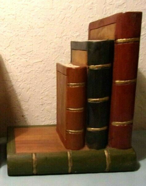 Vintage wooden wood stack of books Office Decor Study