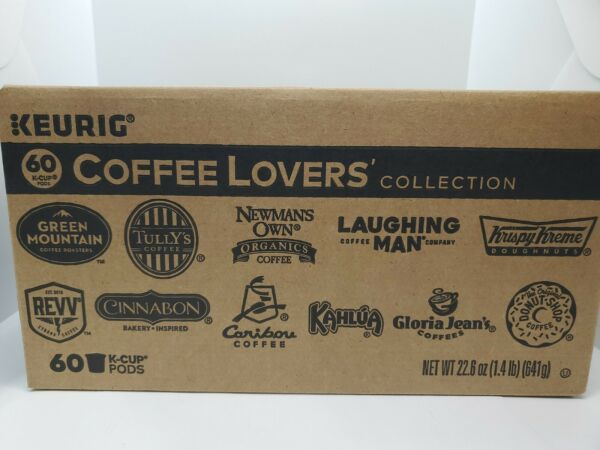 Keurig Coffee Lovers Collection Variety Pack 60 K Cups.