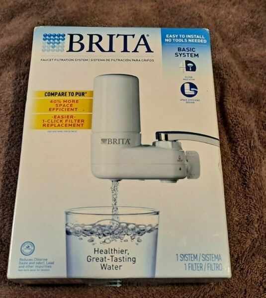 Brita Tap Water Filter System Water Faucet Filter Filtration BPA Free Less Lead