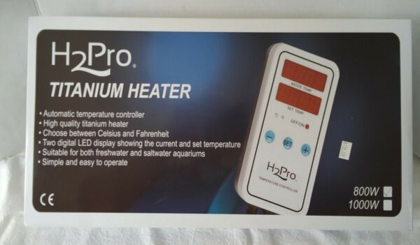 H2PRO Titanium Heater 800W LED **DISPLAY CONTROLLER ONLY** No Heater Tube ** NEW $35.00