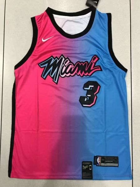 2021 New Miami Heat Dwyane Wade #3 Mens City Edition Embroidered Jersey $24.99