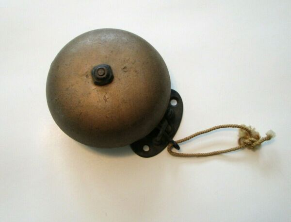 RARE Antique Bell Brass Cast Iron Trip Gong Boxing Ringside Fight Sports Room