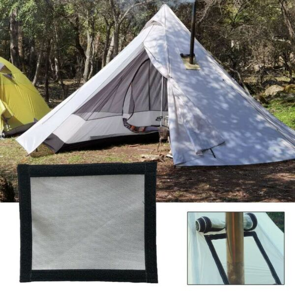 Tent Wood Fire Stove Smoke Chimney Tube Pipe Road Anti scalding Ring Protection $10.99