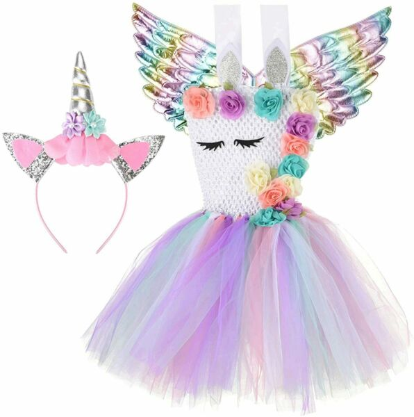 Halloween Unicorn costumes for girls with Headband and Wings Style2 Size 7 8T $9.99