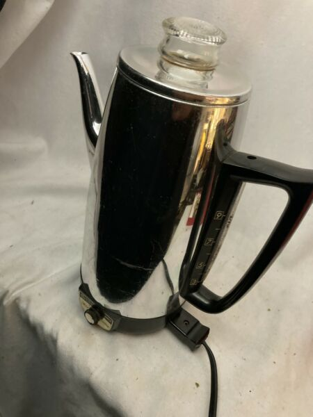 Vintage General Electric Immersible Electric Coffee Percolator 9 Cup A2P15 GE