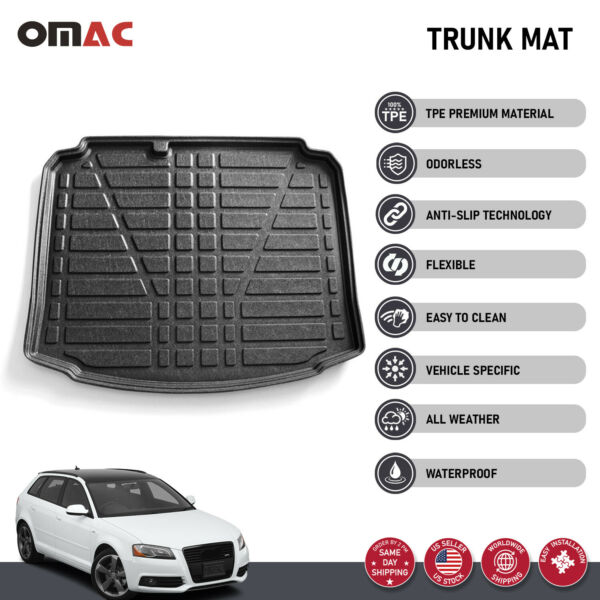 Trunk Mat Rear Cargo Liner All Weathers Guard For Audi A3 Sportback 2006 2013 $39.90