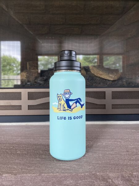 Life Is Good Dog On Beach 32 oz Stainless Steel WaterBottle $47.99
