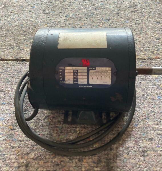 Electric Motor 1 3 HP With On Off Switch 1720 RPM E96231 $75.00