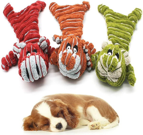 TOTARK Squeaky Dog Toys Indestructible for Puppy No Stuffing Plush Dog Toys In $25.63