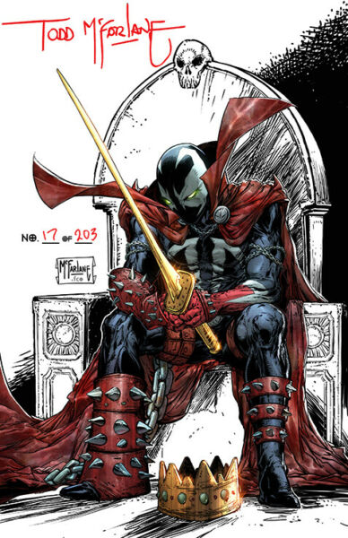 KING SPAWN #1 1:250 Signed by MCFarlane 1:50 COVER A B C D E F G PRE SALE $59.99