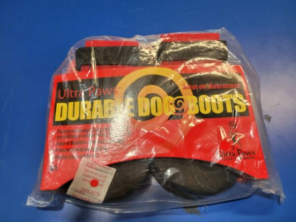 Ultra Paws Durable Dog Boots Size LG Black $14.50