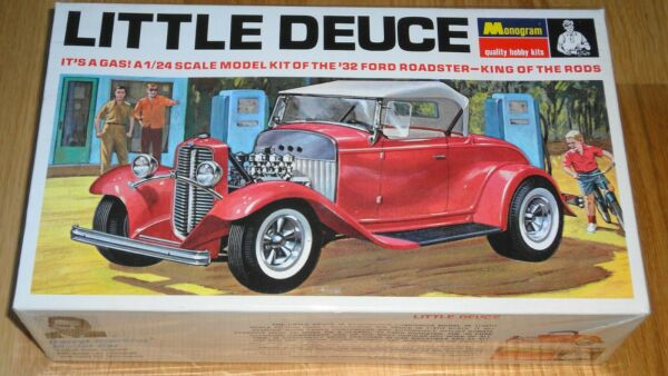 MONOGRAM LITTLE DEUCE #x27;32 FORD ROADSTER 1 24 KING OF THE RODS