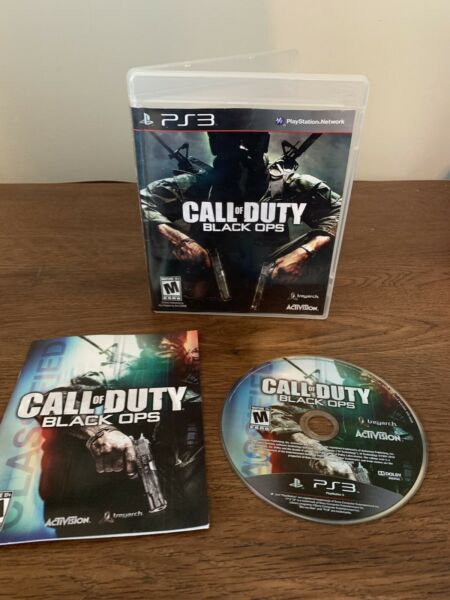 Call of Duty: Black Ops Sony PlayStation 3 2010 CIB Game Case Manual $7.99