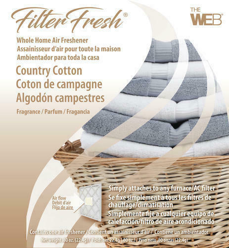 Filter Fresh Whole Home Country Cotton Air Freshener AC Furnace Pad House Scent $11.09