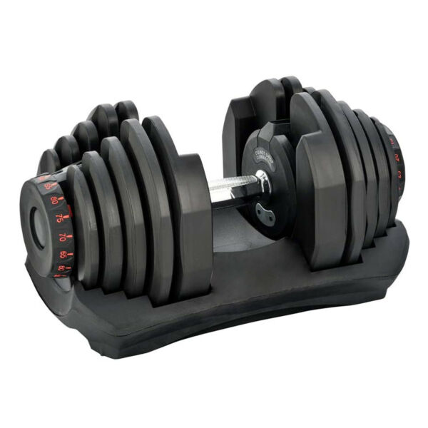 HolaHatha 10 TO 90LB Adjustable Dumbbell Workout Equipment Single For Parts $109.99