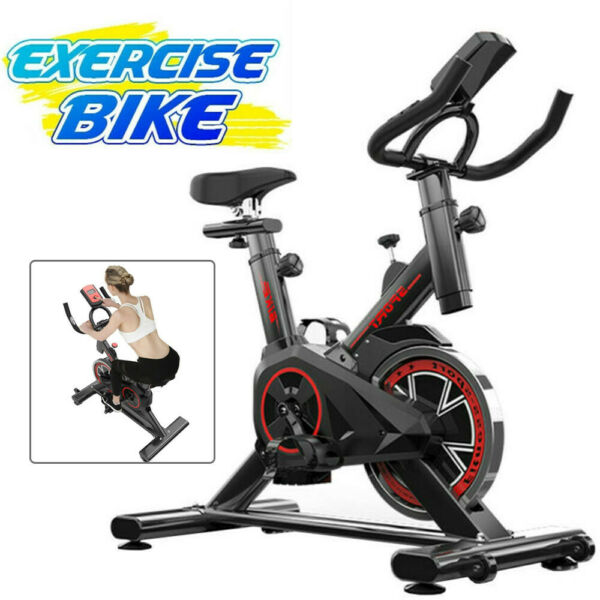 Stationary Exercise Bike Indoor Cycling Bicycle Cardio Fitness Gym Workout W LCD $138.99