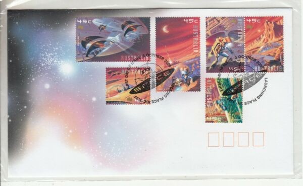 2000 Space set of 6 stamps. First day cover. Cost $3.00. Going cheap AU $1.99