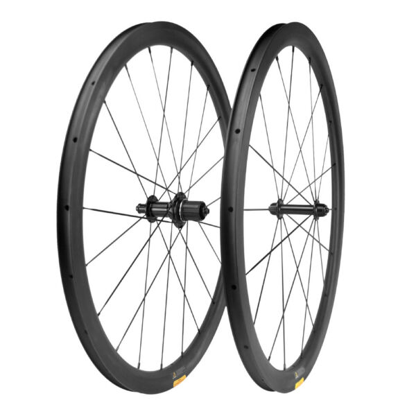Ultra Light 38mm Carbon Wheels Road Bike Clincher Carbon Bicycle Wheelset 700C $359.10