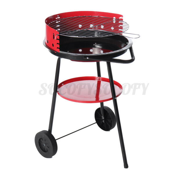 17quot; Outdoor BBQ Charcoal Grill Smoker Barbecue Pit Patio Backyard Meat Cooker