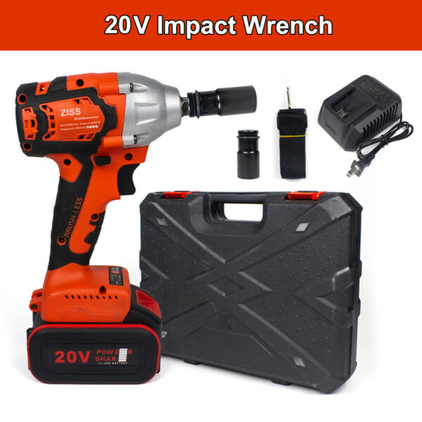 Impact Wrench Cordless Brushless Electric Driver 1 2quot; 520Nm Power Tool Craftsman