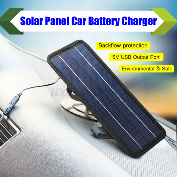 4.5W 12V Boat Car Solar Panel Trickle Battery Charger USB Outdoor Power Kit $33.04
