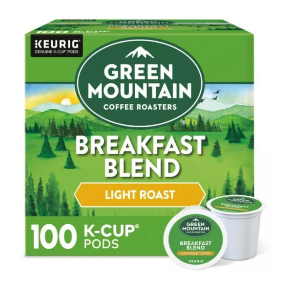 Green Mountain Coffee Breakfast Blend K Cup Pods 100 ct.