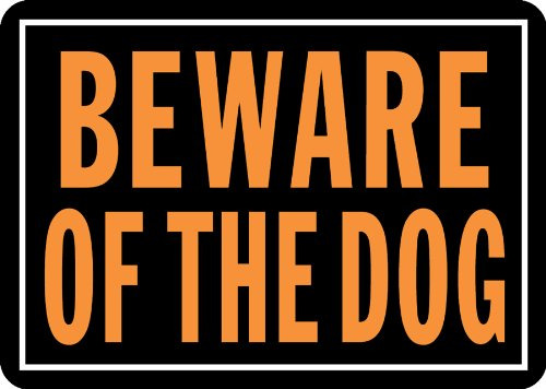Beware of Dogs Sign Dog Aluminum Metal Fence Yard Warning Security Poster 10x14 $2.09