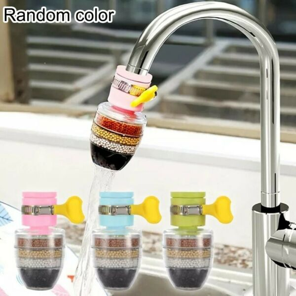 Faucet Tap Filter 6 Layered Activated Carbon Hard Water Softener Adapter Kitchen C $14.94