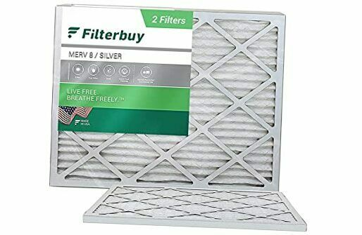 14x18x1 Air Filter MERV 8 Pleated HVAC AC Furnace Filters 2 Pack Silver $37.11