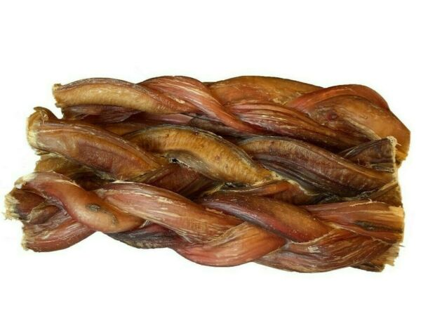 6quot; inch BRAIDED BULLY STICKS FOR DOGS EXCELLENT DOG CHEW AND TREAT 6 pcs $18.99